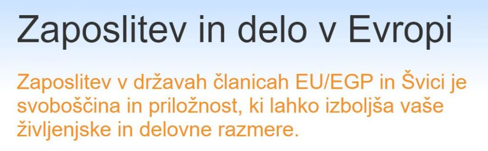 Uradna reklama države za izseljevanje iz Slovenije na portalu Zavoda RS za zaposlovanje