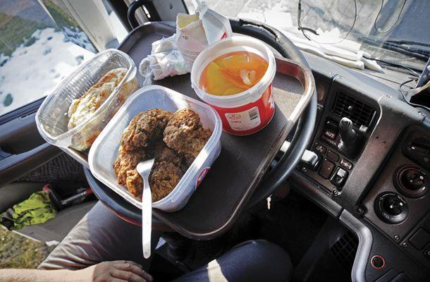 Obrok hrane poklicnega voznika