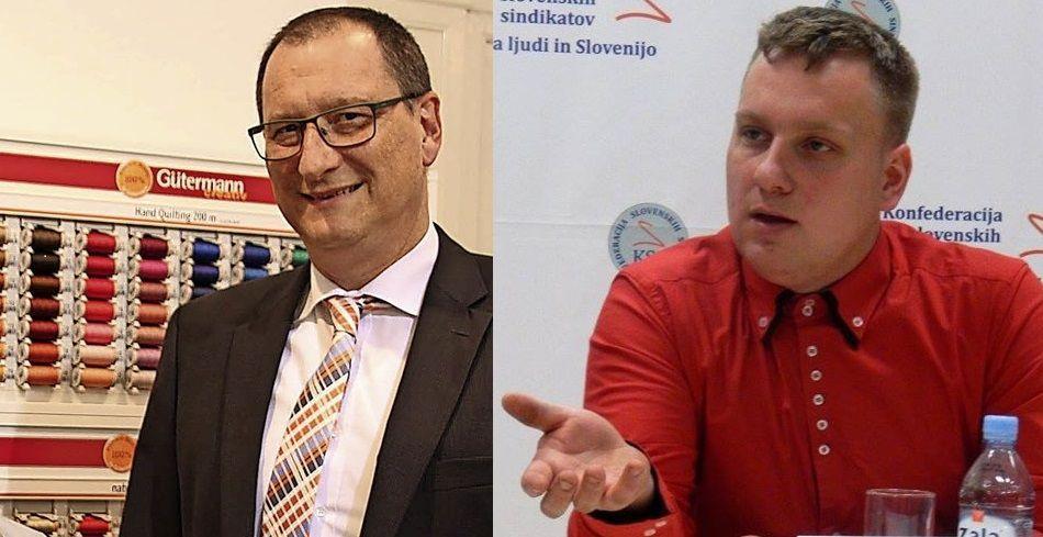 Jürgen Dresche, direktor-----------------------------------David Ažnoh, podpredsednik KSS