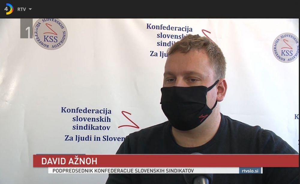RTV Slovenija o pozivu KSS javnim delavcem, da gredo preko KSS brezplačno v tožbe za 5.000 EUR dodatkov za ćas 5 mesecev epidemije
