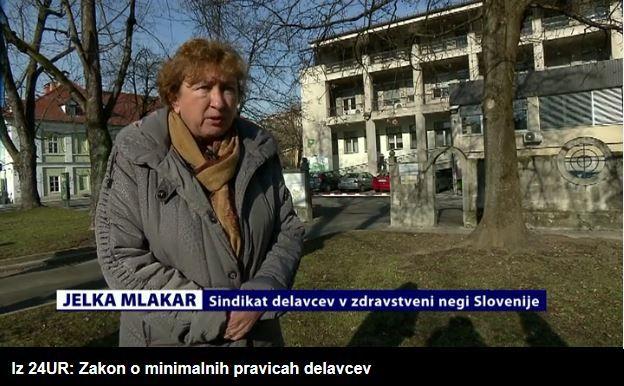 Jelka Mlakar iz Sindikata delavcev z zdravstveni negi Slovenije