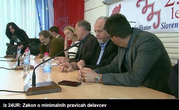 Iz 24UR Zakon o minimalnih pravicah delavcev - tiskovna konferenca sindikatov