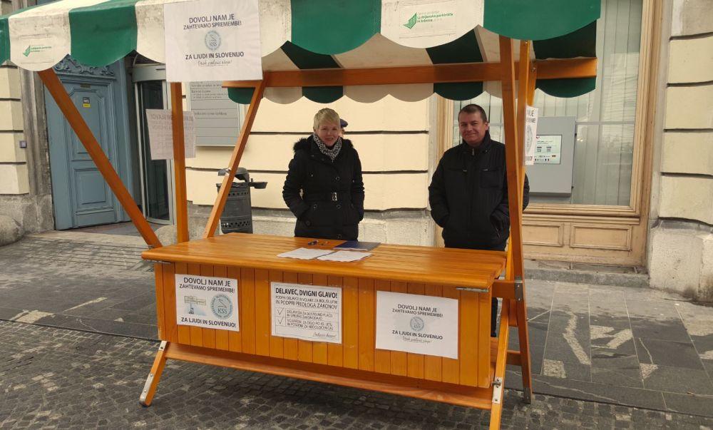 Stojnica izpred UE Ljubljana